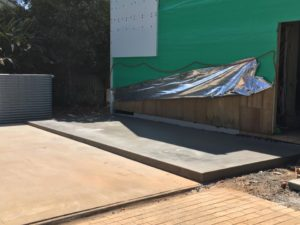 concrete slab extension