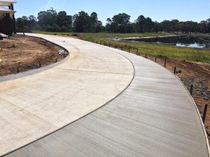 driveway concrete slab extension