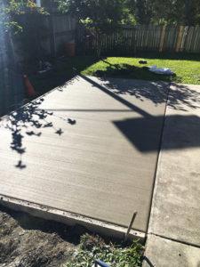 patio concrete slab extension